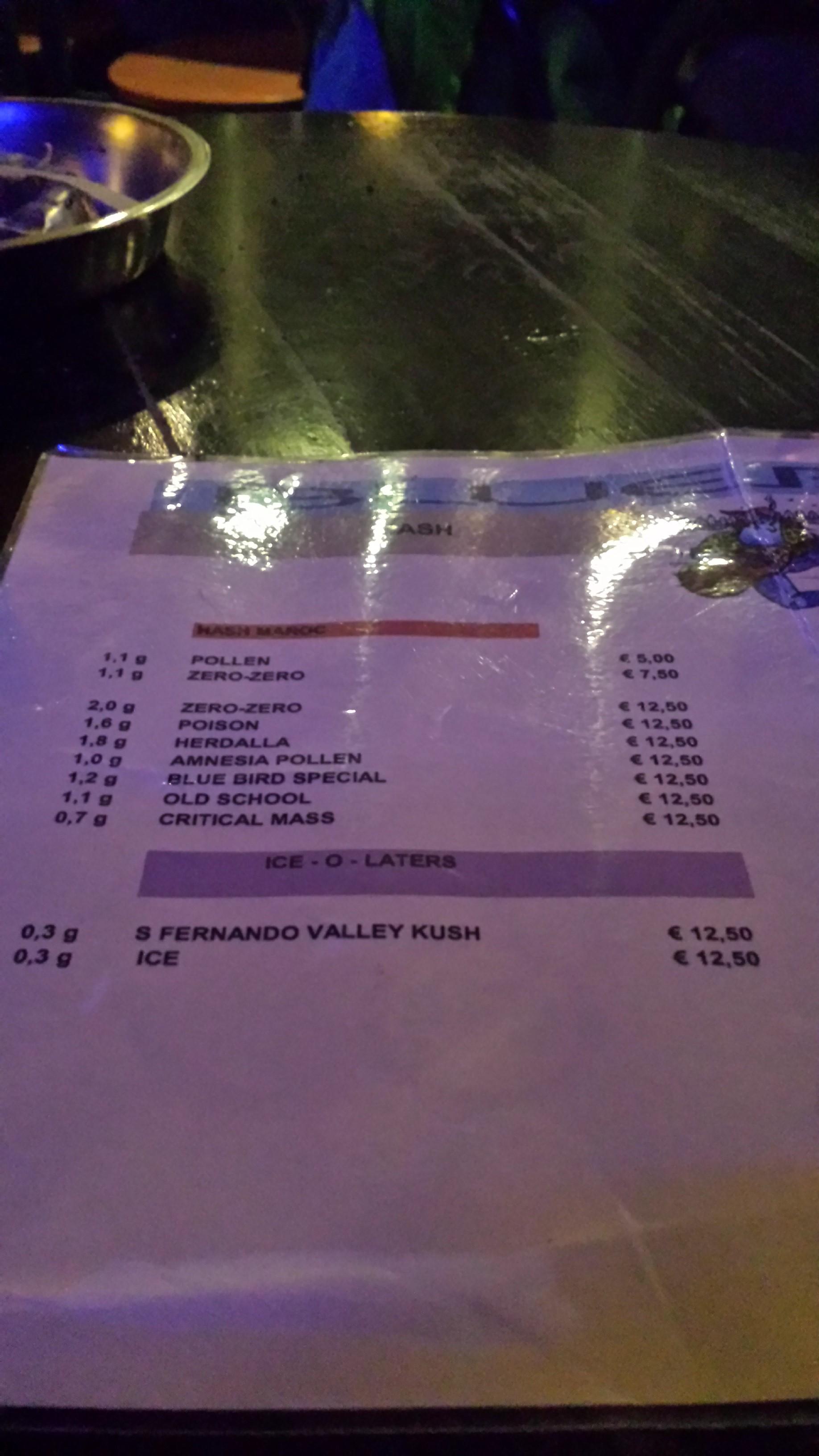 menu picture