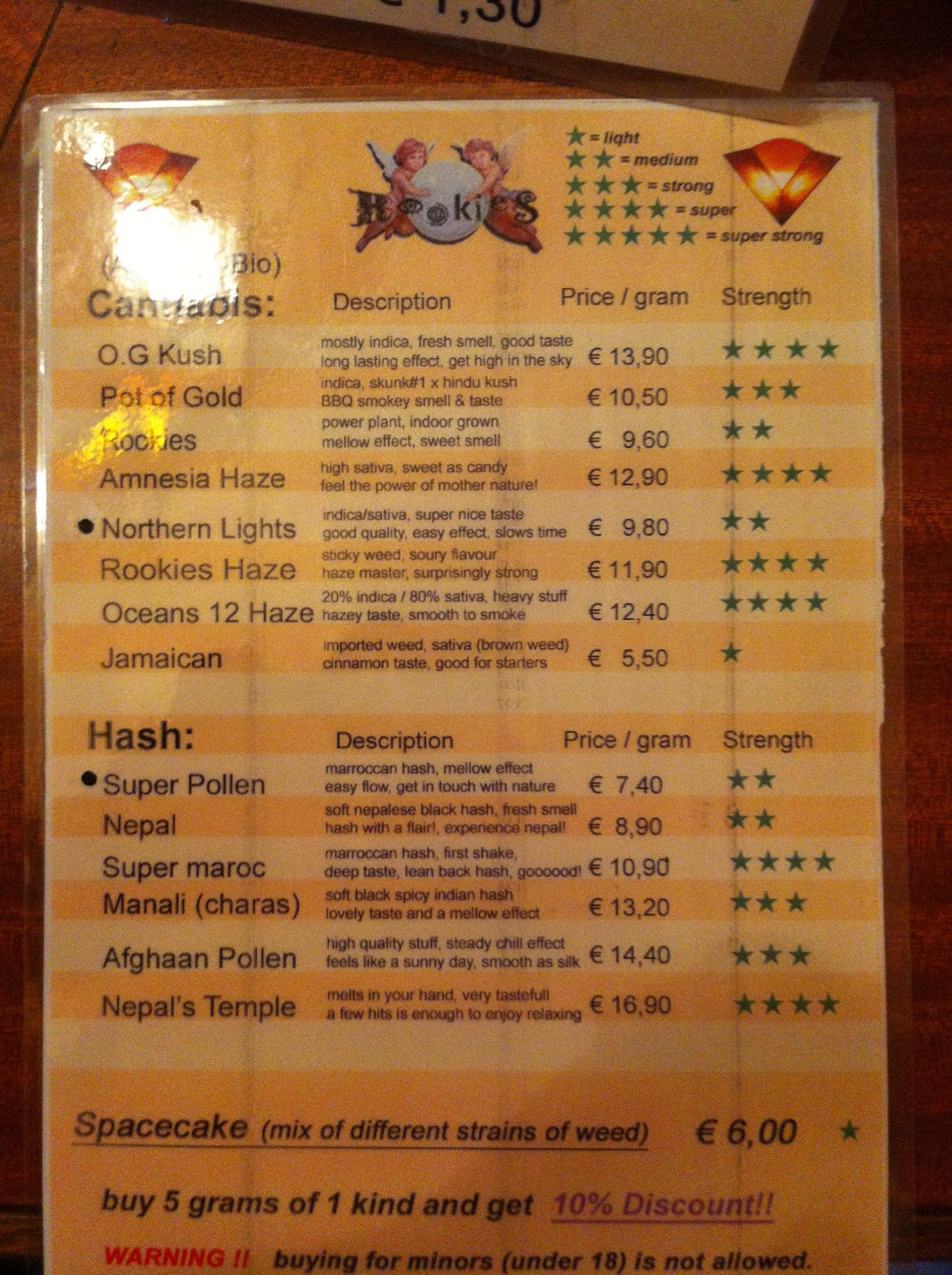 bulldog menu the rookies bar amsterdam coffeeshop directory 5907